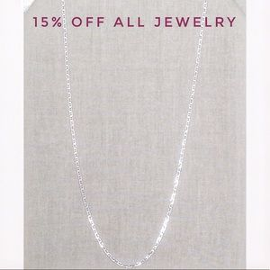 🆕VVFQ Long .925 Sterling UNISEX Necklace NWT!